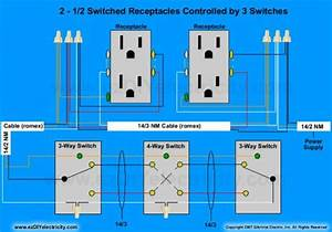 Three Way Switch Wiring Diagram For Receptacle