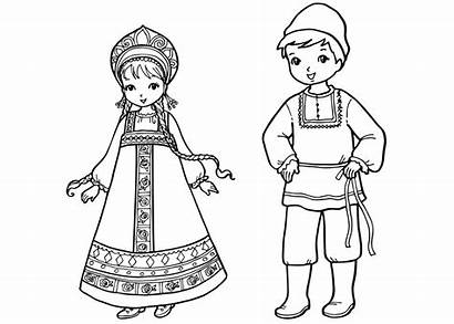 Coloring Russian Russia Traditional Children Adult Colorkid