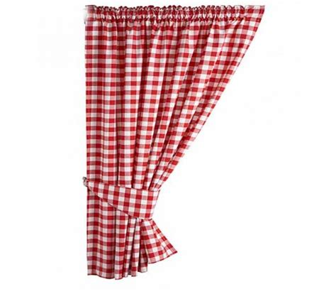 gingham country check ready made curtains