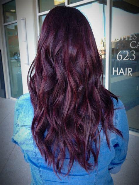 Redviolet Hair Color Violet Hair Colors Red Violet