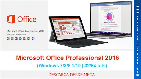 microsoft office professional plus 2016 32 64 descargar microsoft office professional plus 2016 32 64 Descargar
