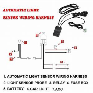 Automatic On  Off Control Switch Drl Daytime Running Light