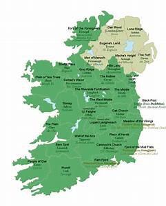 All 32 counties of Ireland with their literal English ...
