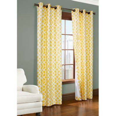 yellow curtain panels buy yellow panel curtains from bed bath beyond