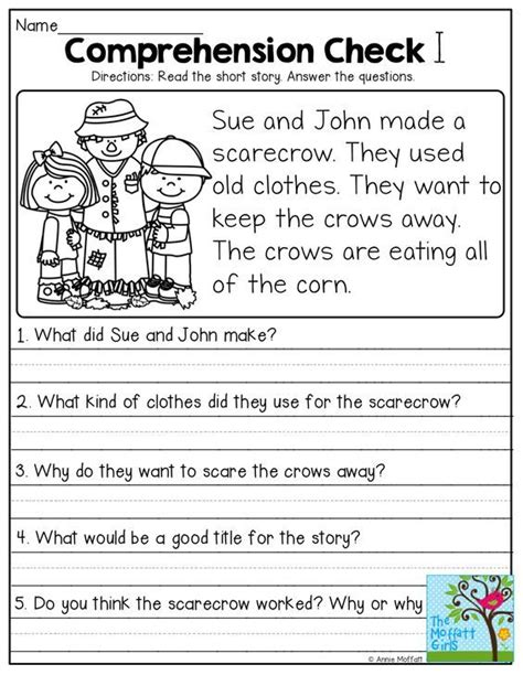 stories with comprehension questions