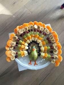 Ein gesunder Obst-Vogel-Pfau für den Kindergeburtstag ...