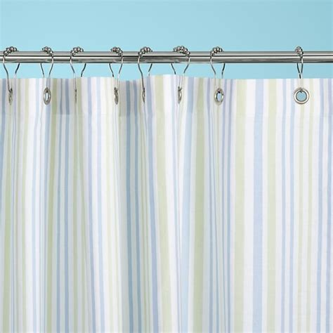 Land Of Nod Shower Curtain - stripes in the shower curtain contemporary shower