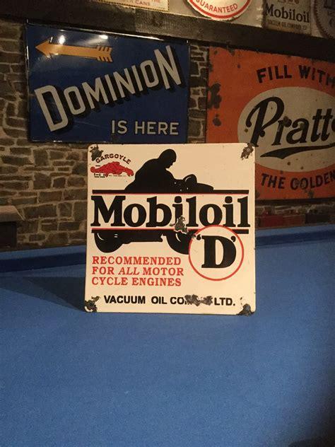 Mobiloil D Enamel Sign  Uk Restoration. Product Stickers And Labels. Unit Number Signs. Future Husband Lettering. Jackson Ward Murals
