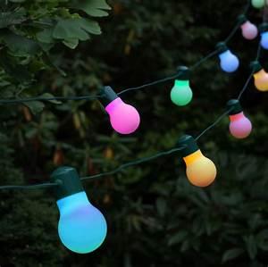 Guirlande Solaire Festive 20 Ampoules Led Couleur