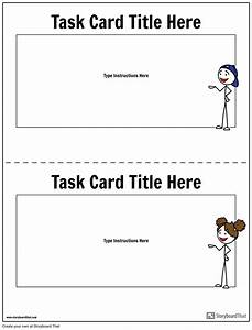 Task Card Template 1 Storyboard By Worksheet