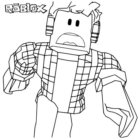fun  kids coloring page roblox coloring pages