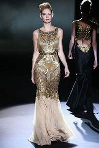Gold beaded bridal gown inspiration art deco onewedcom for Gold beaded wedding dress