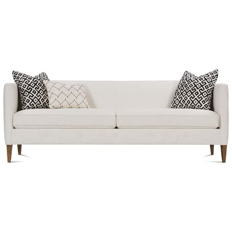 Contemporary Sofa Legs by Rowe 86 Quot Contemporary Sofa With Exposed Wood Legs