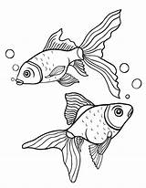 Goldfish Coloring Pages Fish Printable Pdf Colouring Coloringcafe Adult Patterns Gold Drawing Sheet Printables Drawings Adults Painting Mermaid Stencils Ocean sketch template
