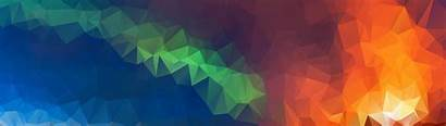 Abstract 5120 8k 1440 Colorful Dual Polygon