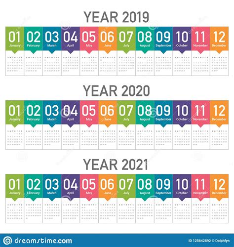 year calendar vector design template stock vector