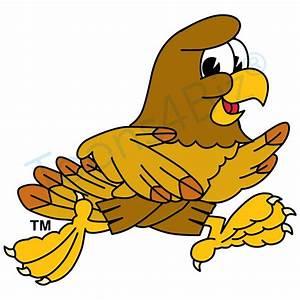Hawk Mascot Running Clip Art Clip Art Graphic