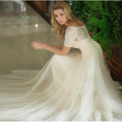 lace country wedding dresses inexpensive lace sleeves country wedding dress in chagne color boat neck a line tulle