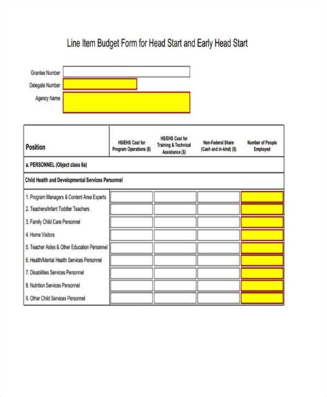 line item budget sle line item budget forms 7 free documents in word pdf