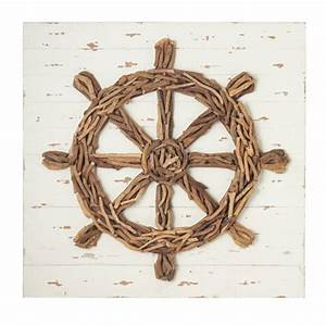 ship39s wheel driftwood wall decor beach decor shop With driftwood wall decor