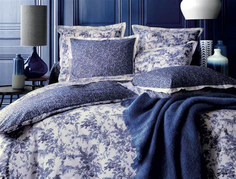 linge de lit bleu po 233 sie linvosges
