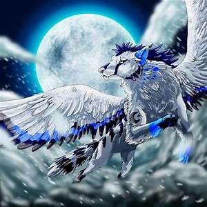 Flying wolf with wings | Wolf with wings | Pinterest ...