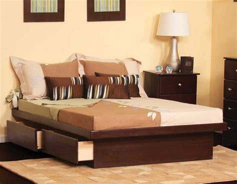 Solid Wood King Platform Bed Trends And Awesome Size With
