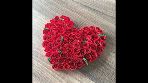 basteln zum valentinstag diy rosenherz basteln f 252 r valentinstag oder muttertag ein herz basteln