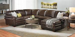 Winfield leather sectional sofa haynes furniture for Where can i buy a sectional sofa