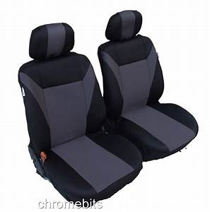 FRONT GREY BLACK FABRIC SEAT COVERS OPEL VAUXHALL CORSA C