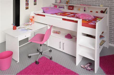 lit hauteur avec bureau lit blanc mi hauteur avec bureau rangement fille ou