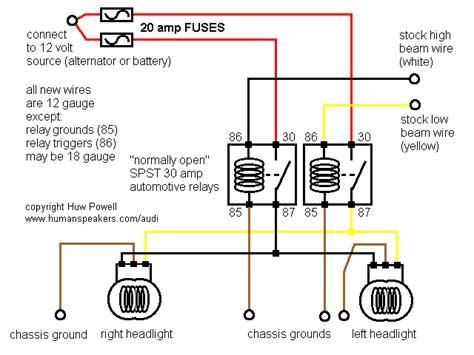 Simple Headlight Relay Wiring