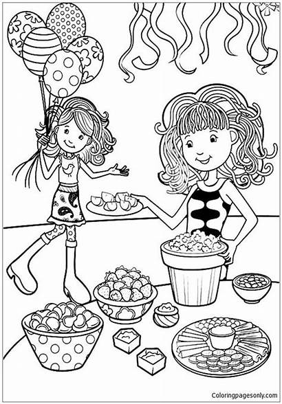 Birthday Party Groovy Coloring Pages Preparation Printable