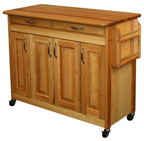 butcher block prep table  kitchen island carts