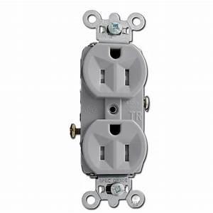Tamper Resistant 15a Gray Duplex Outlet Commercial Grade Tr15