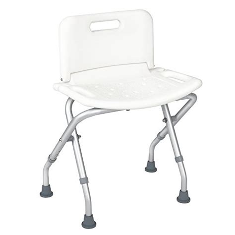 shower chair travel portable folding bath seat with back