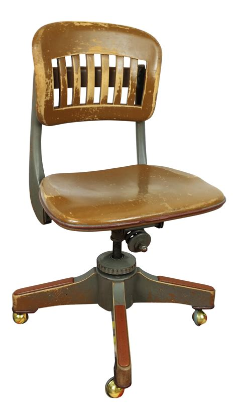 antique swivel desk chair antique sikes industrial swivel desk office chair chairish