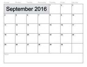 September 2016 Calendar Printable Org