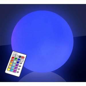Boule Lumineuse Exterieur : boule lumineuse led sans fil 50cm 16 couleurs a achat vente d coration lumineuse boule ~ Teatrodelosmanantiales.com Idées de Décoration