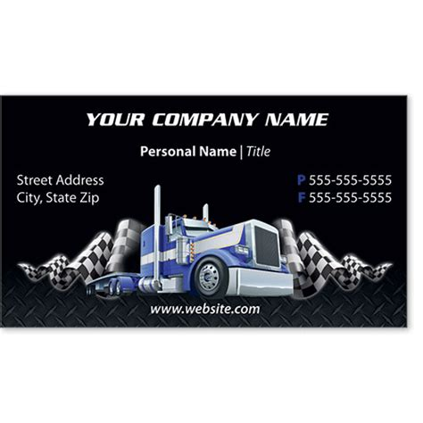 full color trucking business cards truck
