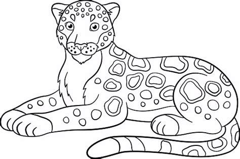 jaguar printable coloring pages