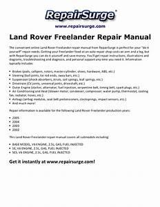 Land Rover Freelander Repair Manual 2002 2005