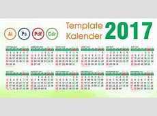 Download Template Kalender 2017 Vector Editable Daftar