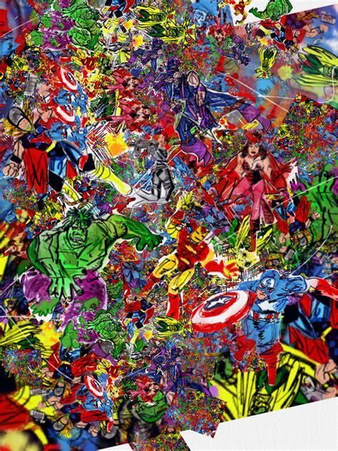 charlie ans avengers art collage