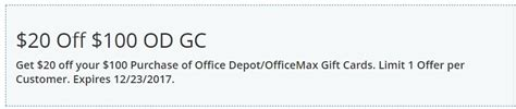 Office Depot Coupons For Direct Customers by Expired Easy Win 20 100 Office Depot Office Max
