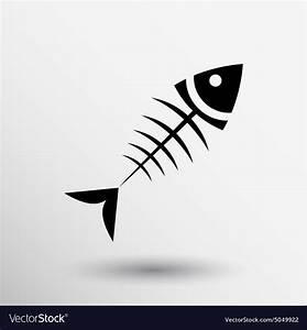 Fish menu design template logo icon Royalty Free Vector