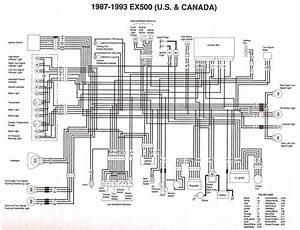 Kawasaki Ex500 1987 1993 Wiring Diagram  59609