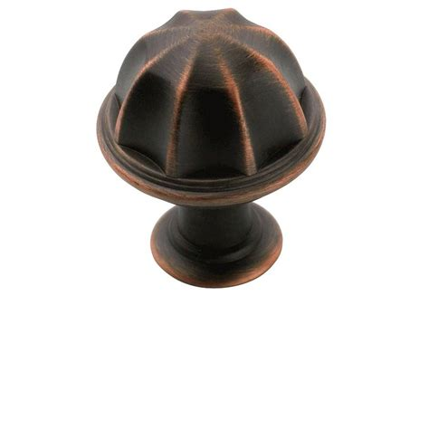 Amerock Cabinet Pulls And Knobs by Shop Amerock Eydon Rubbed Bronze Cabinet Knob