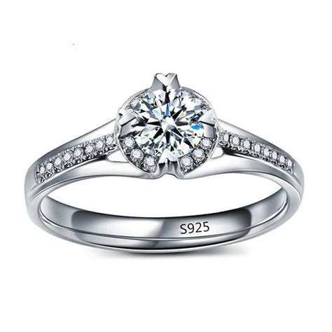 fashion jewelry cheap marage rings for women white gold plated diamant engagement rings aaa