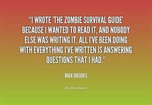 survival zombie guide quotes quote quotesgram